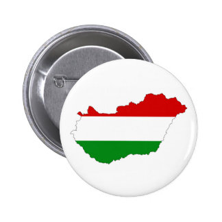 hungary country flag map shape symbol pinback button