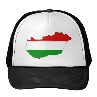 hungary country flag map shape symbol trucker hat