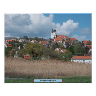 Hungary countryside poster