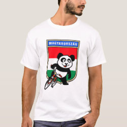 Men's Basic T-Shirt with Hungary Cycling Panda design