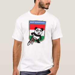 Hungary Cycling Panda Men's Basic T-Shirt