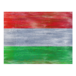 Hungary distressed Hungarian flag Postcard
