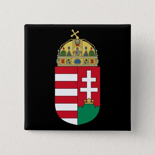 hungary emblem button