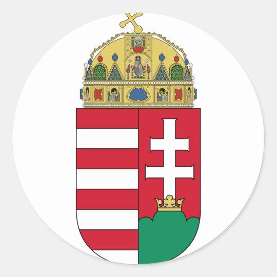 hungary emblem classic round sticker