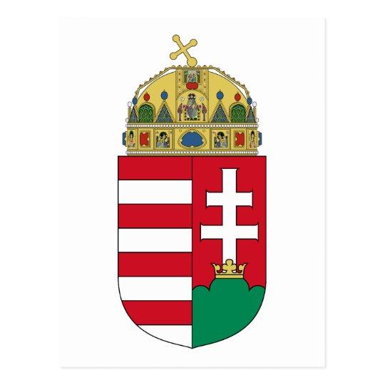 hungary emblem postcard