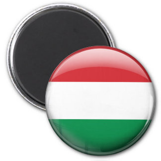 Hungary Flag 2 Inch Round Magnet