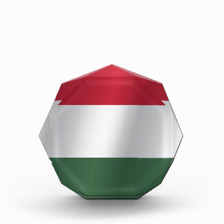 Hungary flag acrylic award