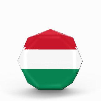 Hungary Flag Acrylic Octagon Award