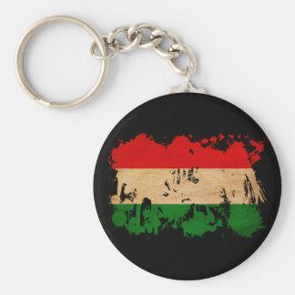 Hungary Flag Basic Round Button Keychain
