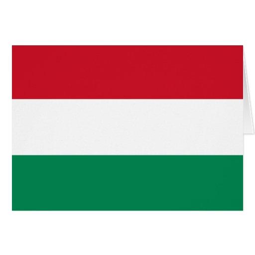 Hungary Flag Card