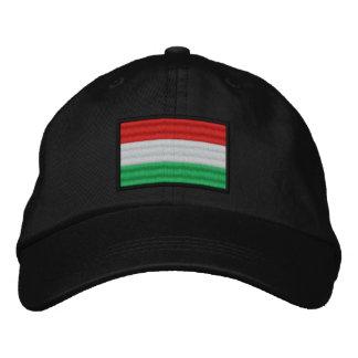 Hungary Flag Embroidered Baseball Cap