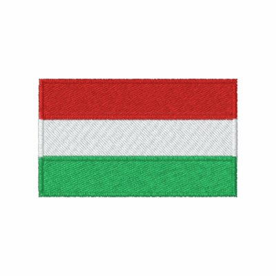 Hungary flag embroidered men's t-shirt
