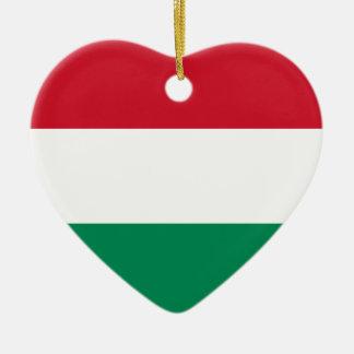 Hungary Flag Heart Ornament