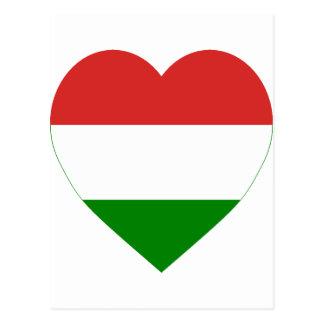 Hungary Flag Heart Postcard