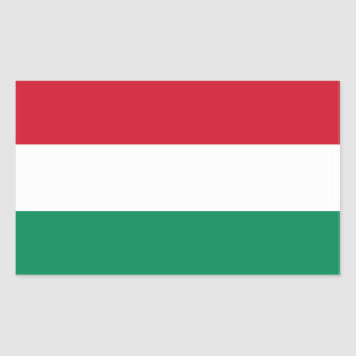 Hungary Flag HU Rectangle Sticker