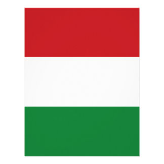 Hungary flag letterhead