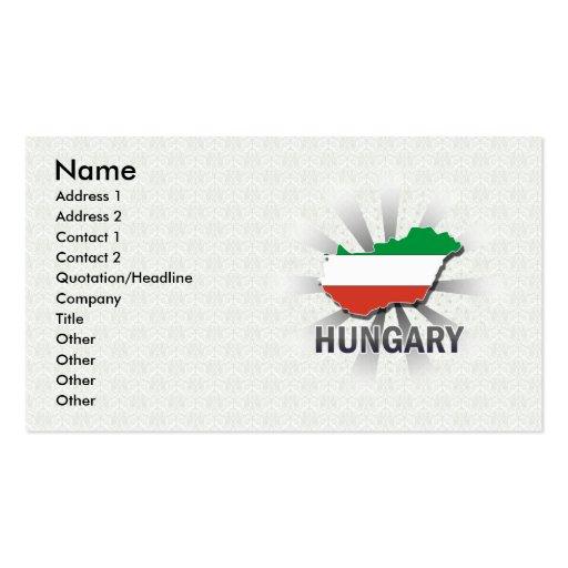 Hungary Flag Map 2.0 Business Card Templates