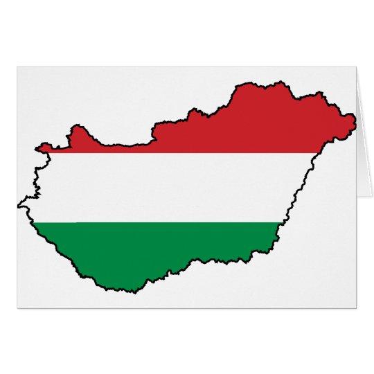 Hungary Flag Map HU Card