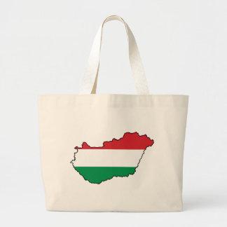 Hungary Flag Map HU Tote Bag