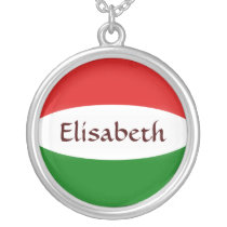 Hungary Flag   Name Necklace