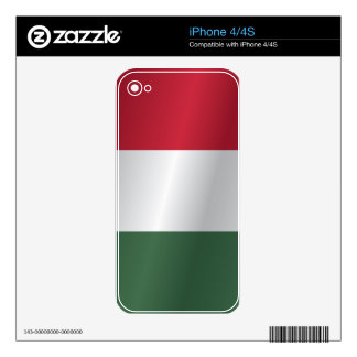 Hungary flag skins for iPhone 4S