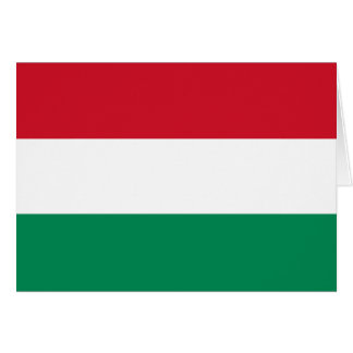 Hungary Flag Stationery Note Card
