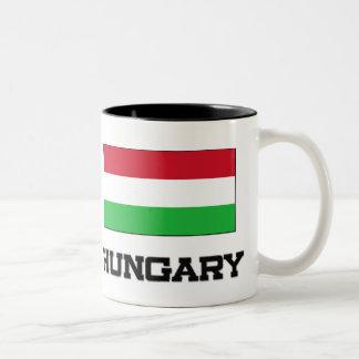 Hungary Flag Two-Tone Coffee Mug