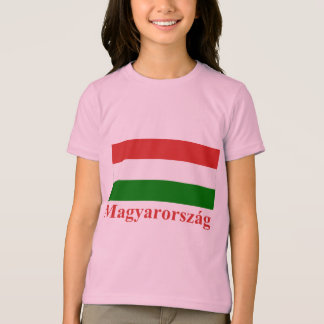 Hungary Flag with Name in Hungarian T-Shirt
