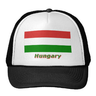 Hungary Flag with Name Trucker Hat