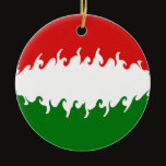 Hungary Gnarly Flag Ceramic Ornament