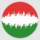 Hungary Gnarly Flag Classic Round Sticker