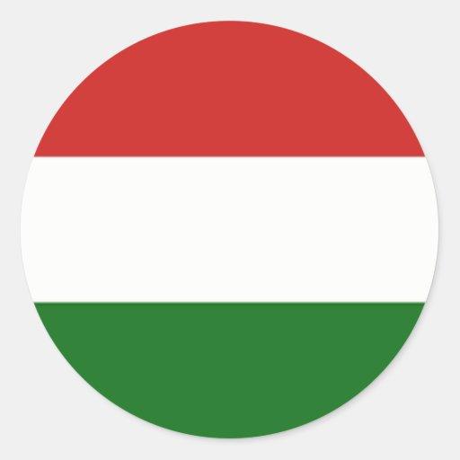 hungary hungarian flag round stickers