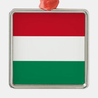Hungary – Hungarian National Flag Square Metal Christmas Ornament