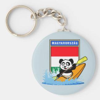 Hungary Kayaking Panda Basic Round Button Keychain