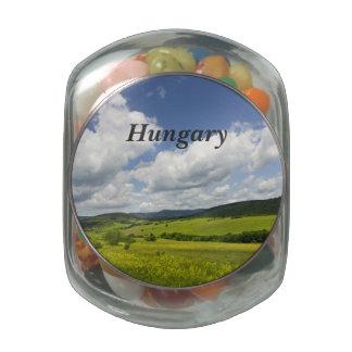 Hungary Landscape Jelly Belly Candy Jar
