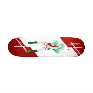 Hungary Manga Anime girl dressed in Flag Hungarian Skate Board Decks