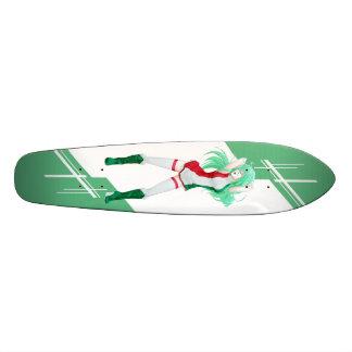 Hungary Manga Anime girl dressed in Flag Hungarian Skateboard Deck