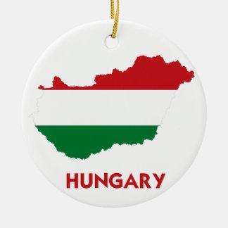 HUNGARY MAP CHRISTMAS ORNAMENTS
