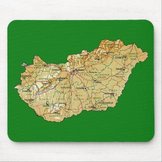Hungary Map Mousepad