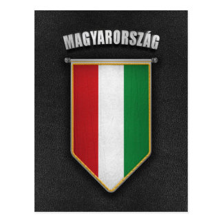 Hungary Pennant with high quality leather look Postcard