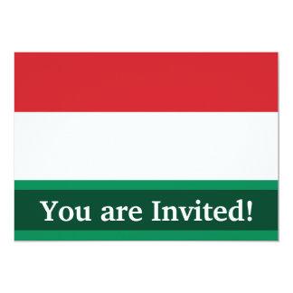 Hungary Plain Flag Card