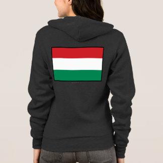 Hungary Plain Flag Hoodie