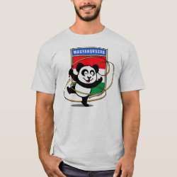 Men's Basic T-Shirt with Hungary Rhythmic Gymnastics Panda design