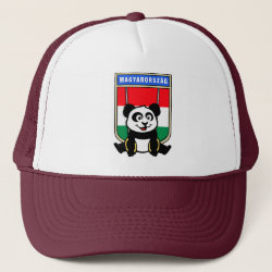 Trucker Hat with Hungarian Rings Panda design