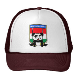 Trucker Hat with Hungarian Rings Panda design