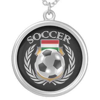Hungary Soccer 2016 Fan Gear Silver Plated Necklace