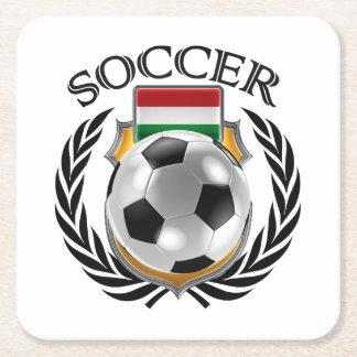 Hungary Soccer 2016 Fan Gear Square Paper Coaster