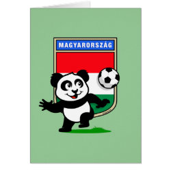 Greeting Card with Hungary Football Panda design