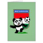 Hungary Soccer Panda Greeting Cards