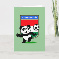 with Hungary Football Panda design